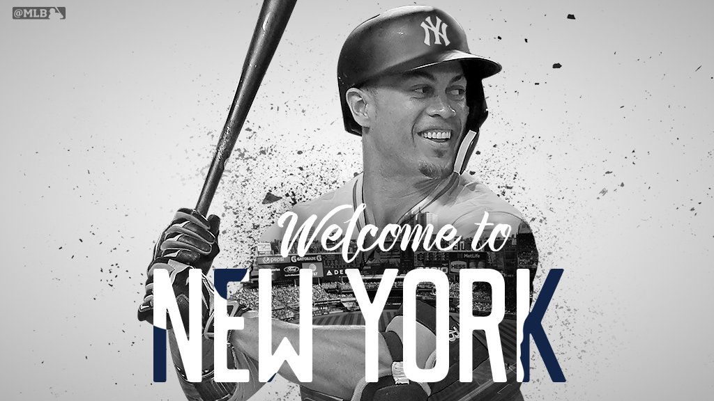 The Big Apple just got BIGGER.  @Yankees officially acquire @Giancarlo818 from the @Marlins. https://t.co/sluwVQy9Es