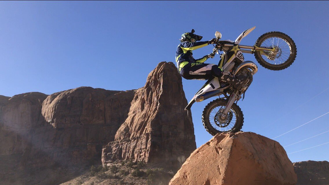 #Moab #Utah @Husqvarna1903 @rockstarenergy @shotracegear @AirohHelmet @ride100percent @fmf73 #rockstarhusky https://t.co/VYRxlOR3B0