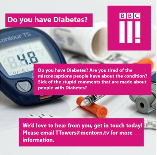 test Twitter Media - Many are fed up with type 1 #diabetes myths and misconceptions. Why not share your thoughts with @bbcthree? If you are interested in sharing the real truths about living with #T1D and are aged 16-35, email TTowers@mentorn.tv for more information. https://t.co/peZvkq9Del