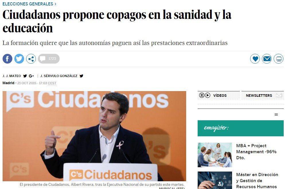 RT @__Gonzalos__: Otra medida del partido naranja son copagos en sanidad y educación. https://t.co/goEMLfRbfD