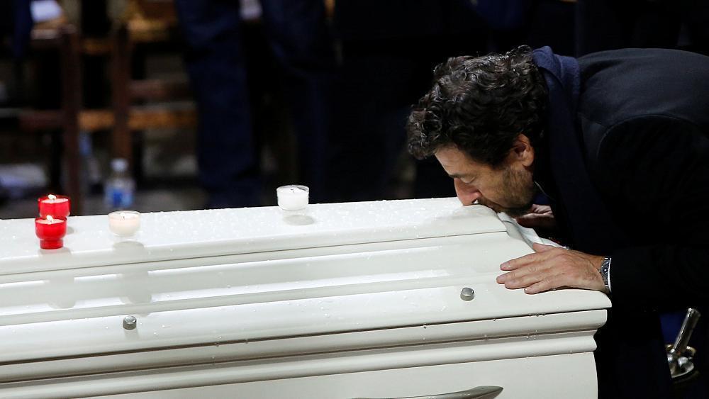 Dernier hommage avant l'inhumation de Johnny Hallyday à Saint Barthélémy