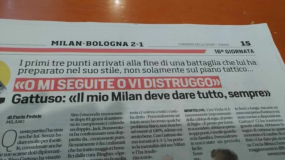 #MilanBologna