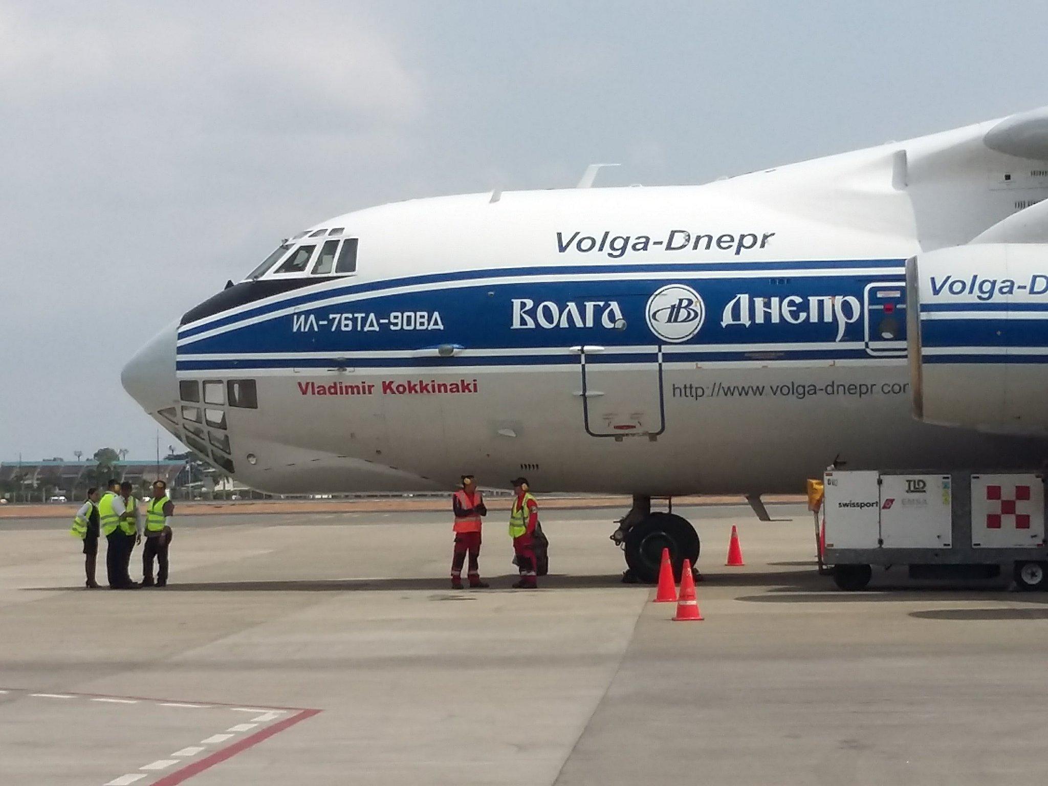 "Scale and refueling in #Guayaquil  #Ilyushin Il-76TD-90VD ""Vladimir Kokkinaki"" of @volgadneprgroup #avgeeks https://t.co/y6jyRMkFHv"