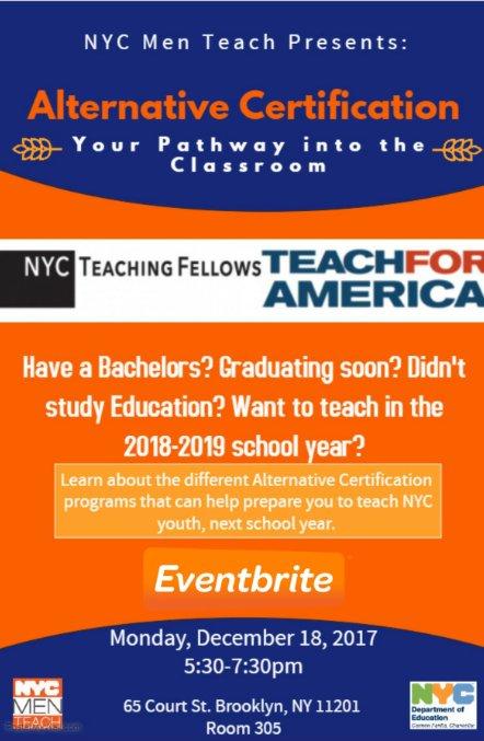 Search New York Alternative Teacher Certification Programs 5567937 ...