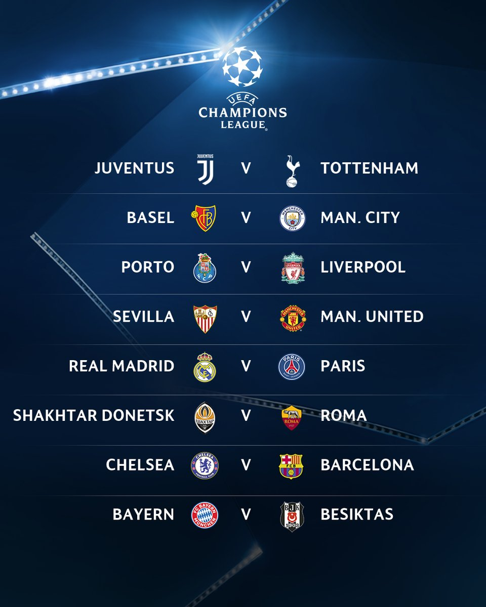 Hasil Undian 16 Besar @ChampionsLeague 2017/2018 #ElshintaSport #ElshintaSemarang https://t.co/1F2VLf0V1H