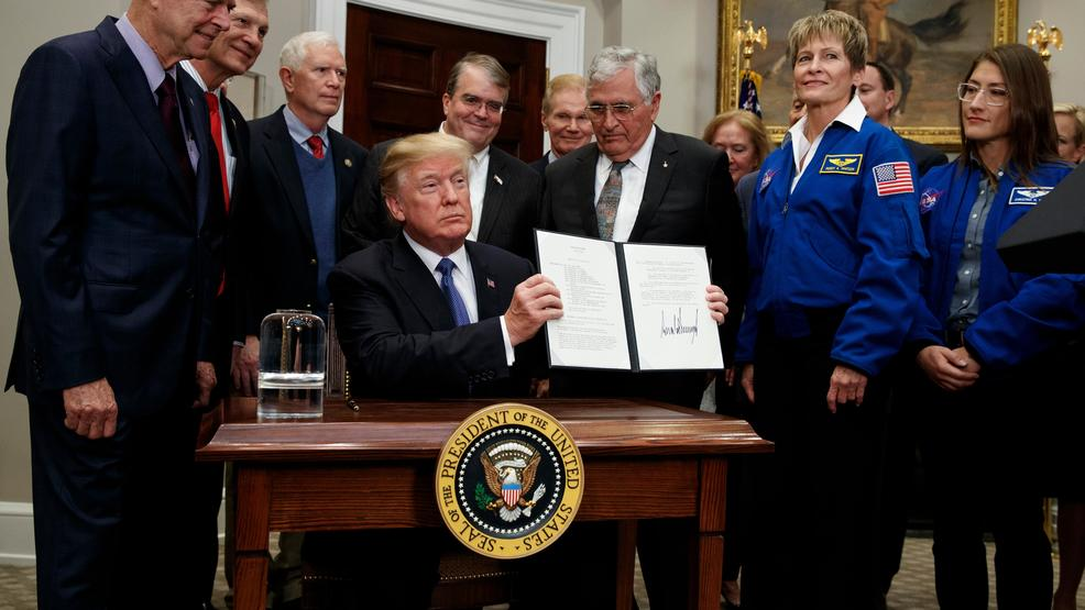 Trump wants to send man back to moon, on to Mars