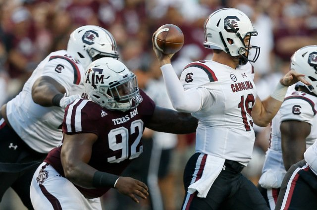 Texas A&M suspends starting lineman arrested for aggravated assault