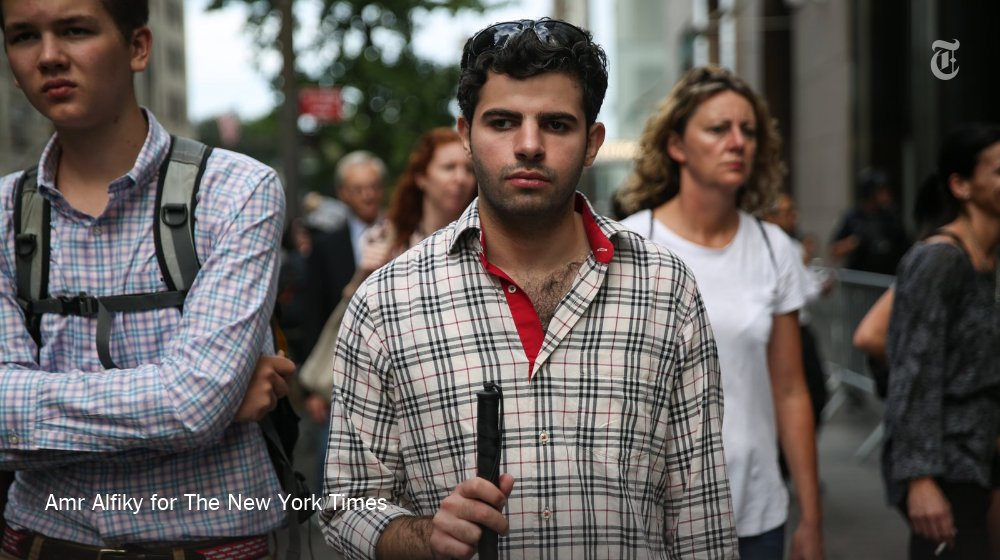 Watch: A blind Syrian refugee finds his way in New York