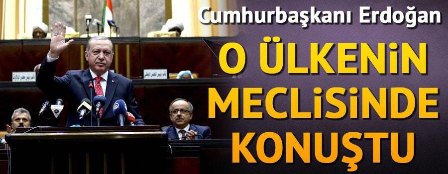 Cumhurbaşkanı Erdoğan Sudan Meclisi'ne hitap etti