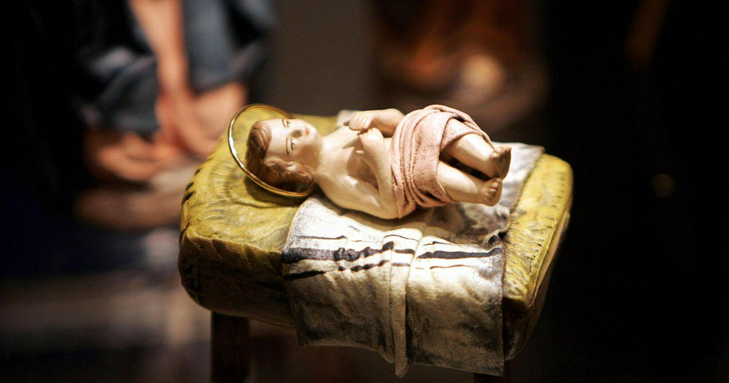 Woman arrested after stealing baby Jesus figurine, police say
