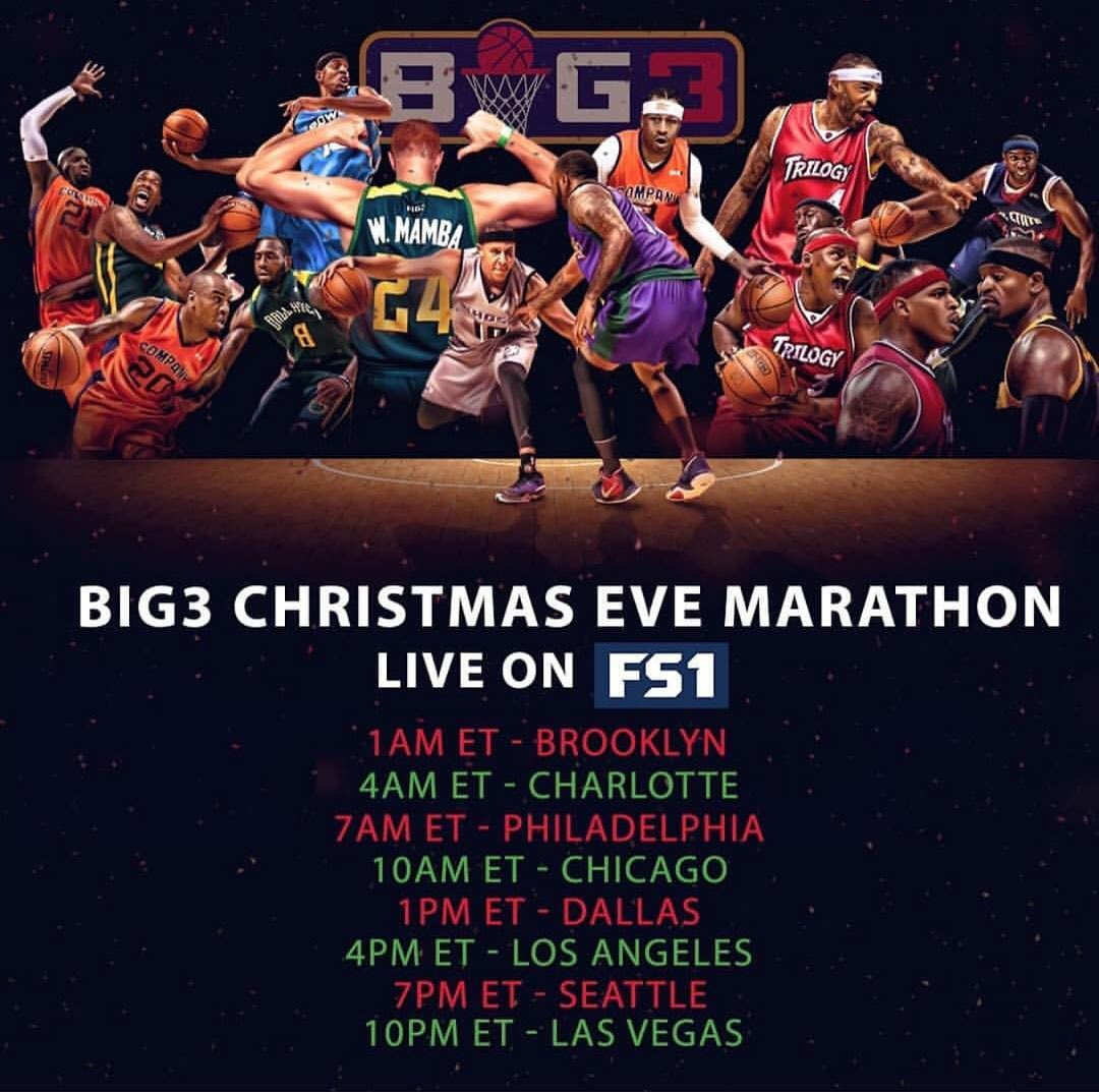 No Sunday Night Football so turn to FS1 (219) to catch the BIG3 Championship Game... https://t.co/JPw5hQCRZd