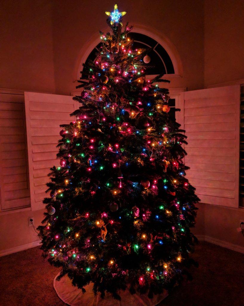 Our tree this year. All 10 feet of it 😂🌲 27BdDrgEYN