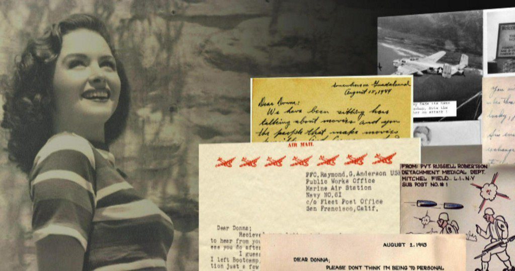 """Dear Donna Reed"": Wartime letters to the Hollywood star"
