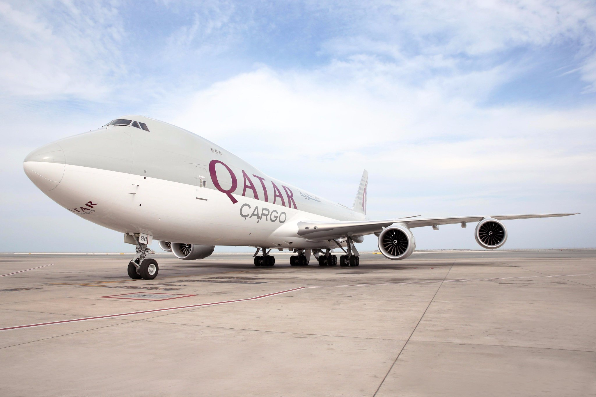 The Queen of the Skies: The Boeing 747-8 Freighter, one of the longest cargo freighters in the world. #Boeing747 #QatarAirways https://t.co/dwfZl531xb
