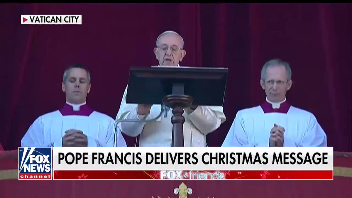 Pope Francis prays for peace, laments 'winds of war' in Christmas message