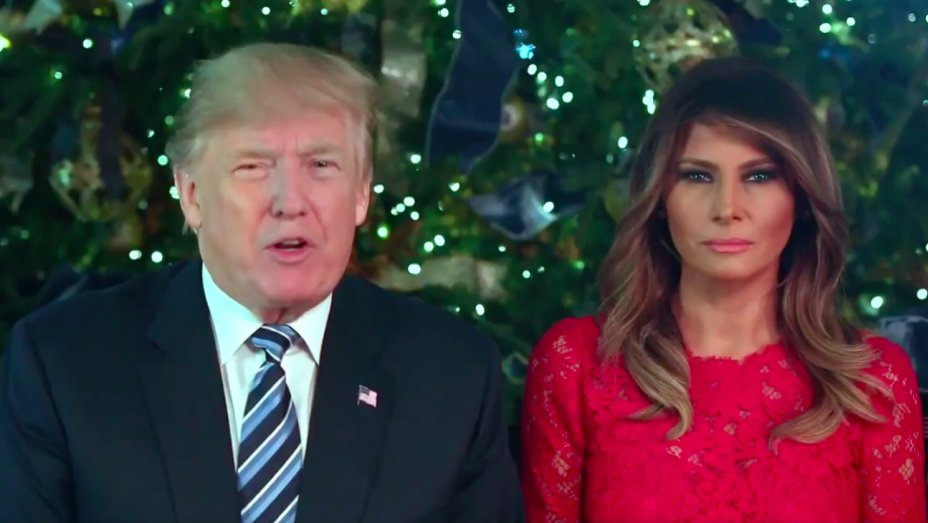 Watch President Trump, Melania Trump wish Americans a Merry Christmas
