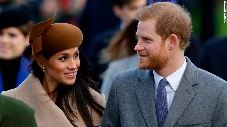 Meghan Markle, Prince Harry join royal family forchurch