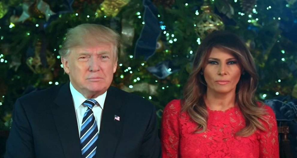President Trump and First Lady Melania send Christmas greetings in White House video