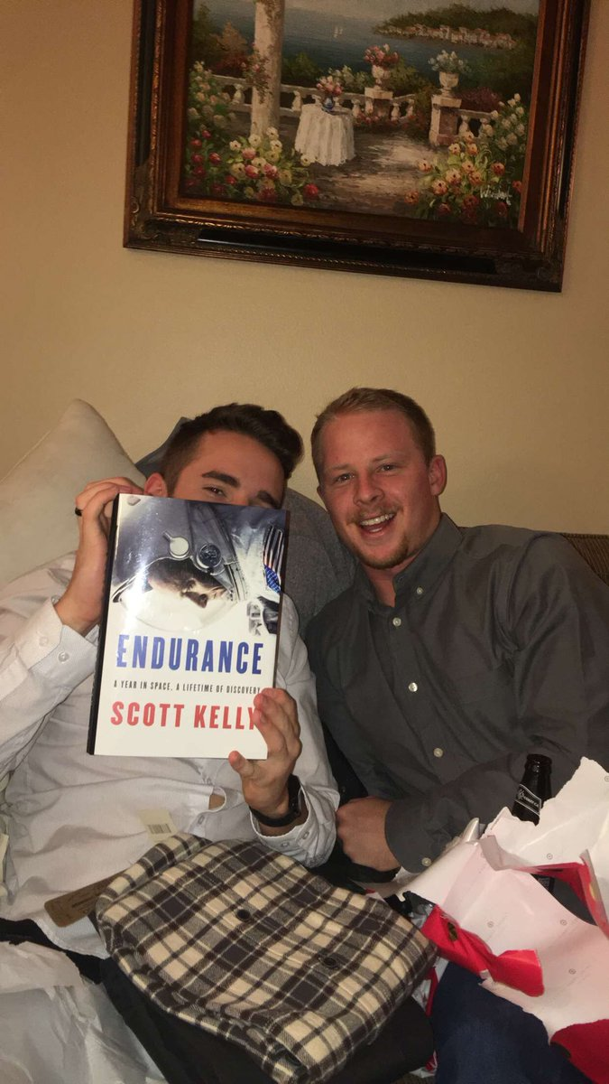 .@Surferscientist and his new  @StationCDRKelly book https://t.co/qbXsk6WthV