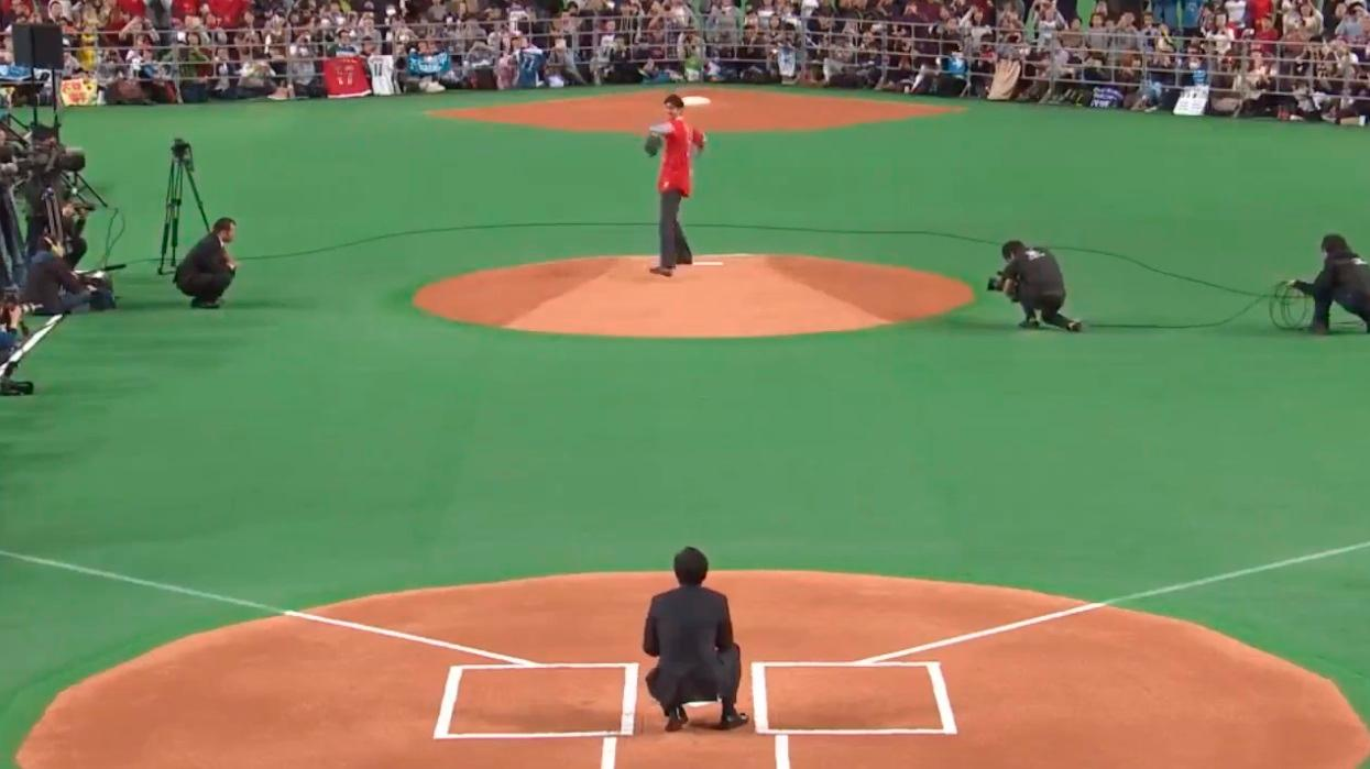 Shohei Ohtani bid farewell to his old NPB fans with a ceremonial last pitch https://t.co/agOWGhzSXx https://t.co/Fqwa8TVX3T
