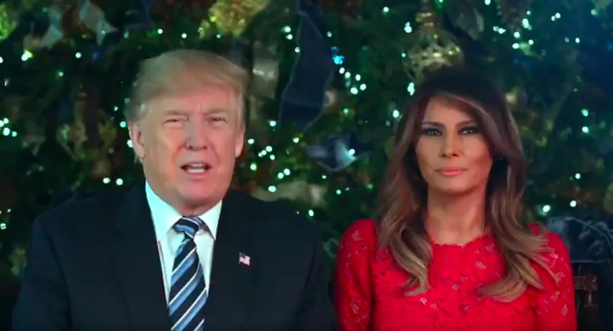 President Trump and Melania Trump wish Americans a Merry Christmas in video message