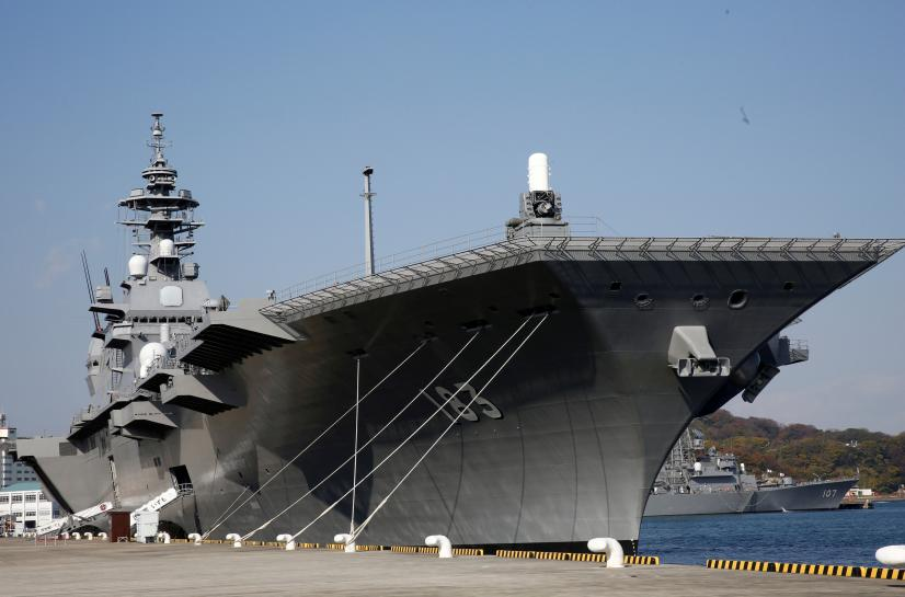 Japan considers refitting helicopter carrier for stealth fighters: government sources