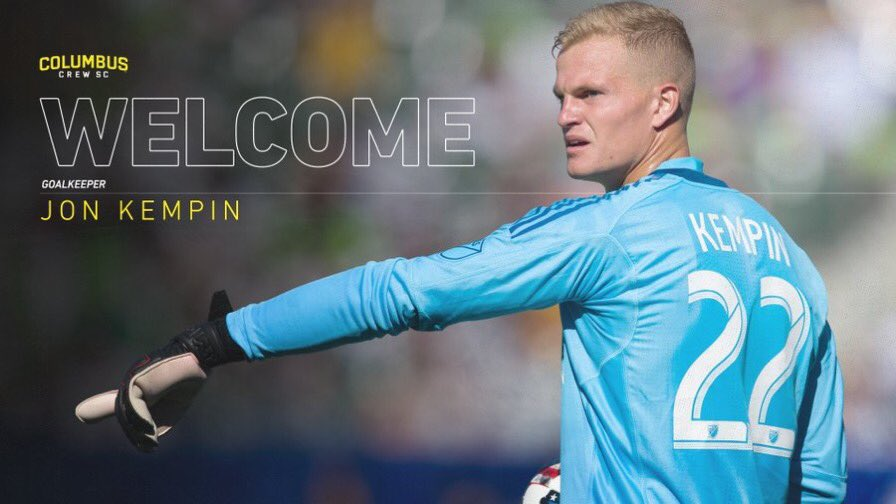 TRADE | @ColumbusCrewSC have acquired GK @JonKempin21 from @LAGalaxy. In return @LAGalaxy will receive a 4th round pick in the 2018 SuperDraft. #CrewSC #LAGalaxy https://t.co/UkzUGFLUmK