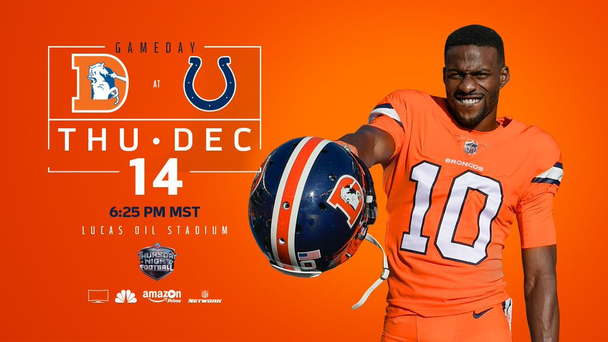 RT @Broncos: It's a chance to win two games in five days.  IT'S GAMEDAYYYYYYYYYYYYYY!  #BeatTheColts | #ColorRush https://t.co/eZVIRNiEYW