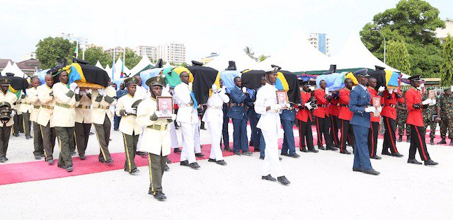 Full military honours for 14 slain soldiers