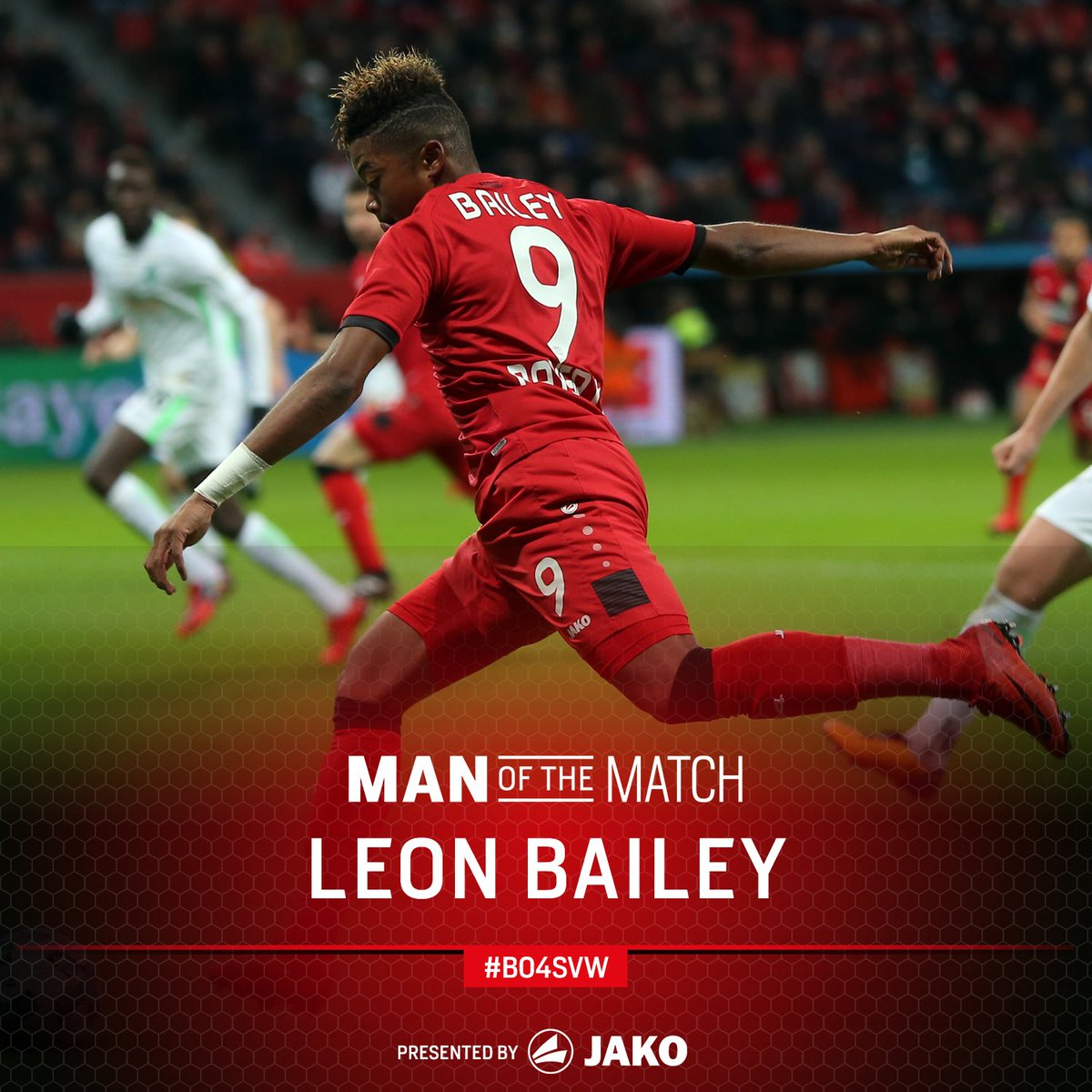 RT @bayer04_en: Your Man of the Match for #B04SVW...   ...@leonbailey !! https://t.co/i2UfpJmaXS