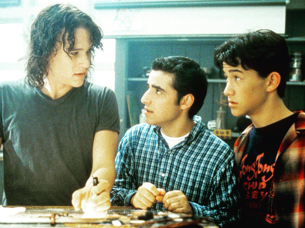 Me w/ Heath Ledger And @mrDaveKrumholtz in 10 Things I Hate About You.. https://t.co/O7cEsFCohc https://t.co/46LPvEUwlB
