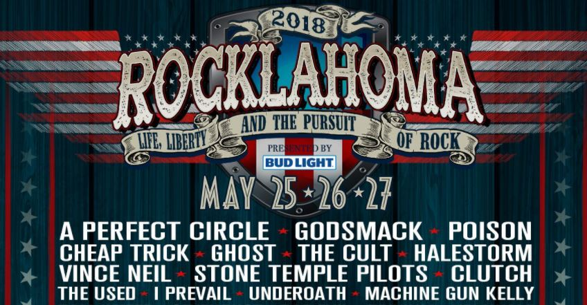 Line up for Rocklahoma 2018 has arrived, it includes Poison, Cheap Trick and TheCult