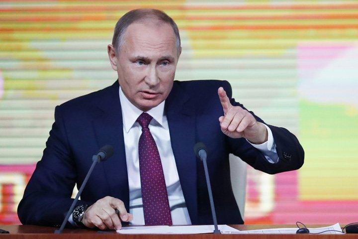 @BroadcastImagem: Acusações contra Trump por conluio prejudicam a política dos EUA, diz Putin. Pavel Golovkin/AP