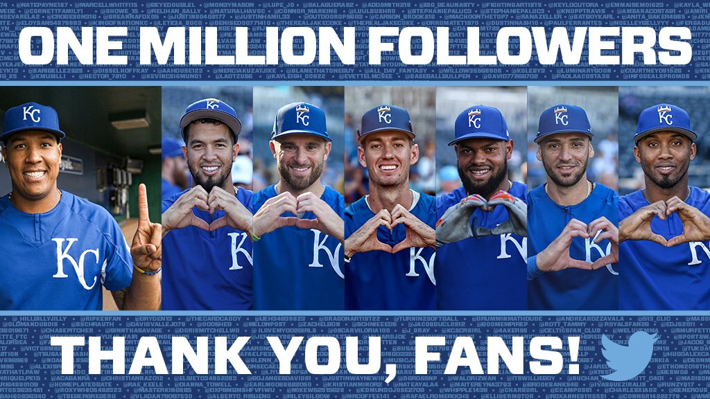 1 million followers. Thank you! ��   Let's celebrate! RT this for a chance to win an Alex Gordon signed baseball. https://t.co/QslIo12FoY