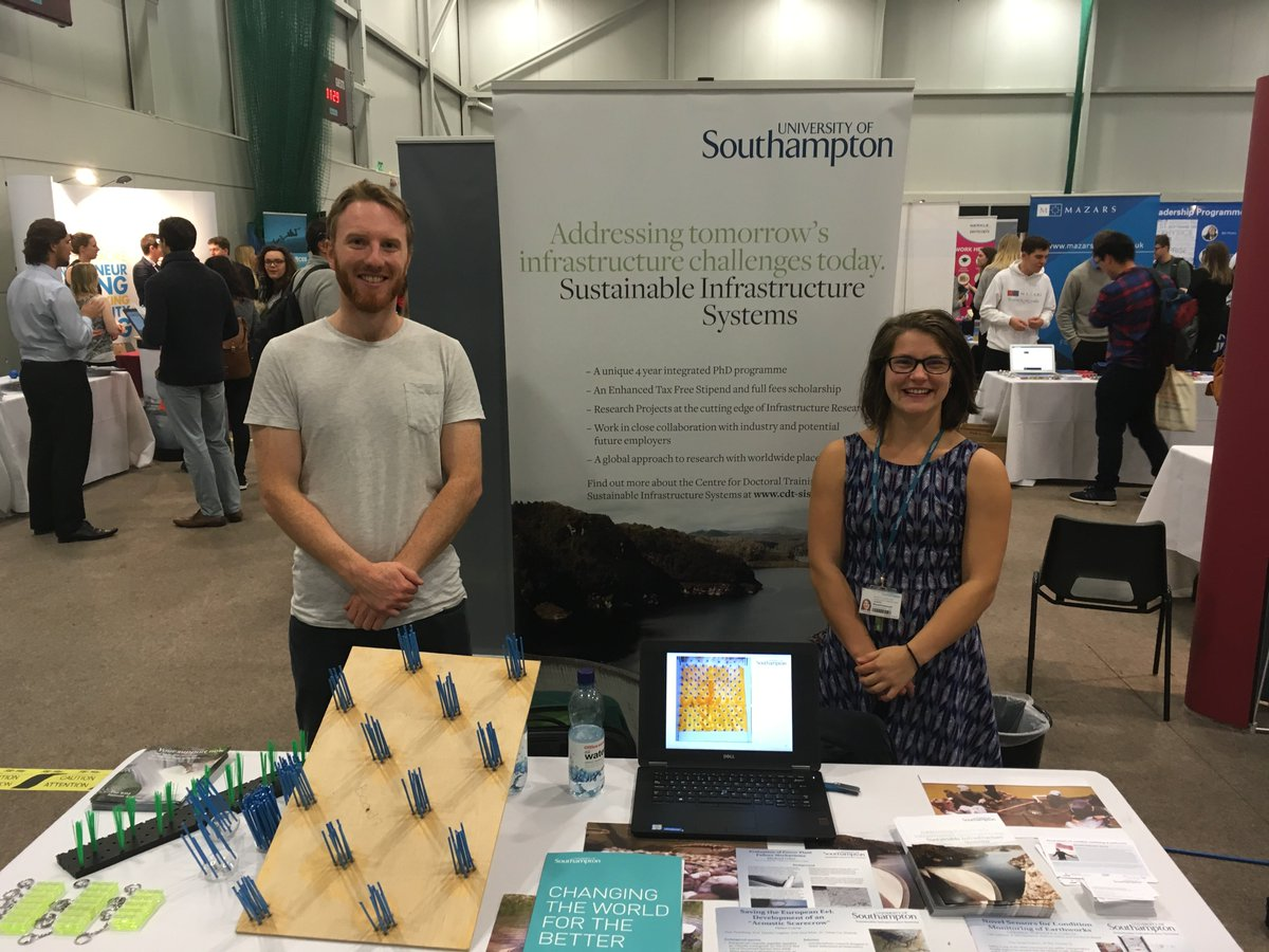 test Twitter Media - ICER members James and Daniella at the All Sectors Fair at the University of Southampton. https://t.co/X911Gt5rNz