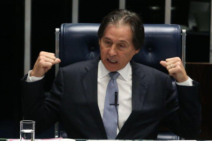 @BroadcastImagem: O presidente do Senado, Eunício Oliveira (PMDB-CE), conduz sessão no plenário da Casa. André Dusek/Estadão
