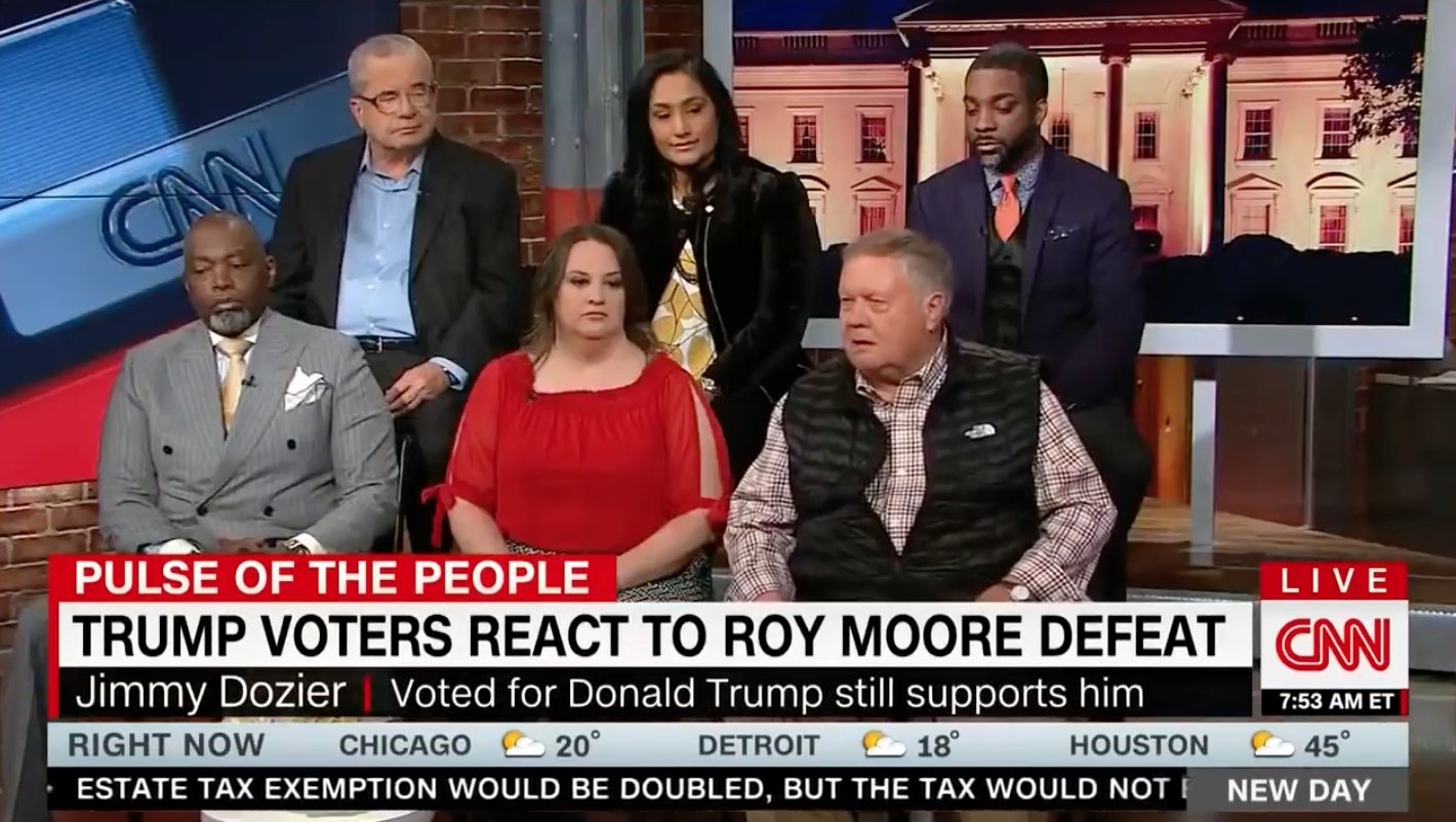 Woke up to see CNN doing an amazing segment on black voters who voted for Doug Jones lololol just kidding https://t.co/tcJx6Bx77X
