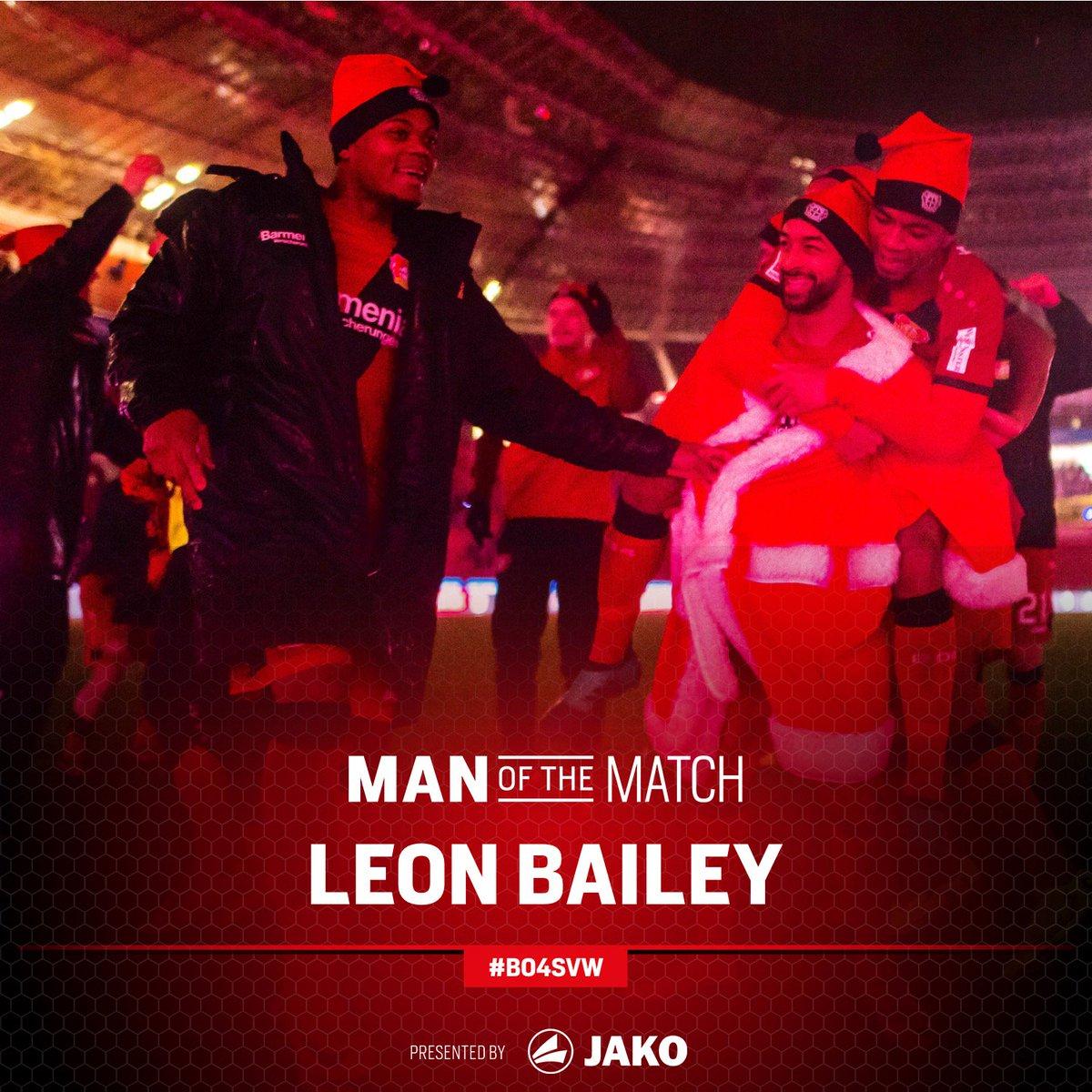 RT @bayer04fussball: Macht auch nach Abpfiff eine gute Figur - @leonbailey ist euer Spieler des Spiels! 🌪🙌  #B04SVW https://t.co/aTuWSwNi5H