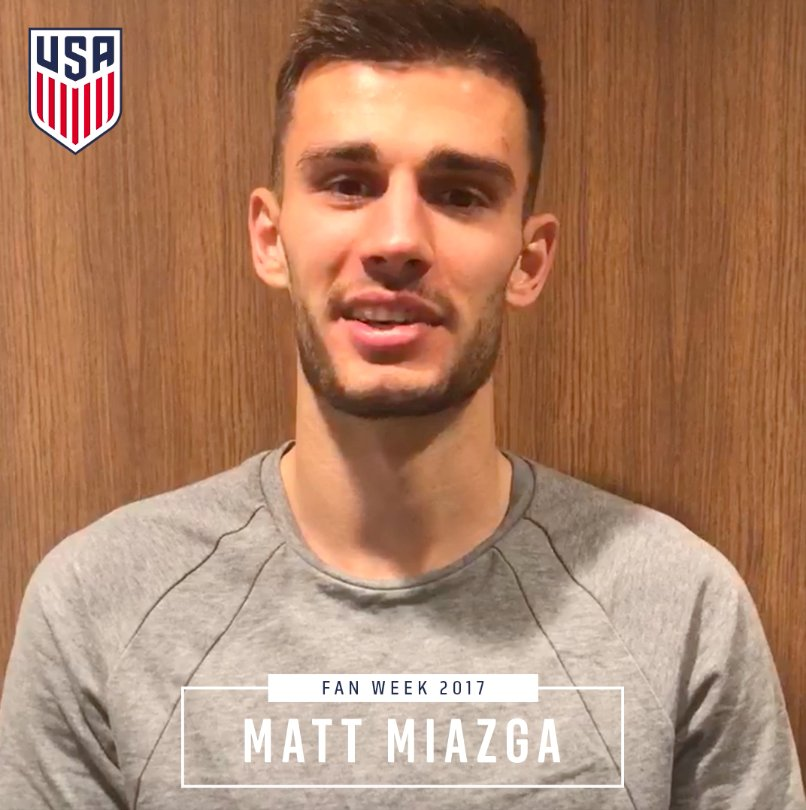 RT @ussoccer_mnt: A #FanWeek2017 shoutout from across the pond. 👋, @MattMiazga3. https://t.co/PrhFfXQwSU