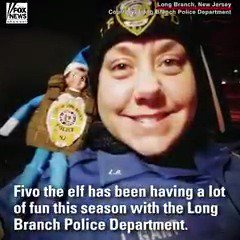 Fivo the elf has left the shelf for fun in the snow with the Long Branch Police Department. https://t.co/ldoijqwce9