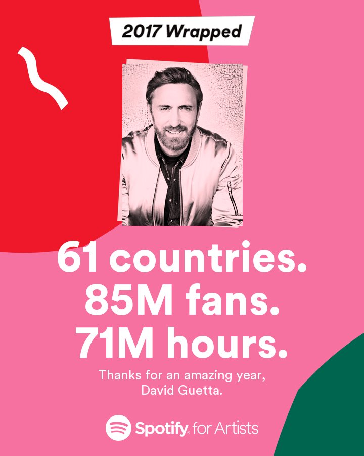 85M fans - 71M hours !!! ���� Looking forward to 2018. A lot of new tracks are coming ;) Stay tuned guys  #2017Wrapped https://t.co/sFDcLoFluQ