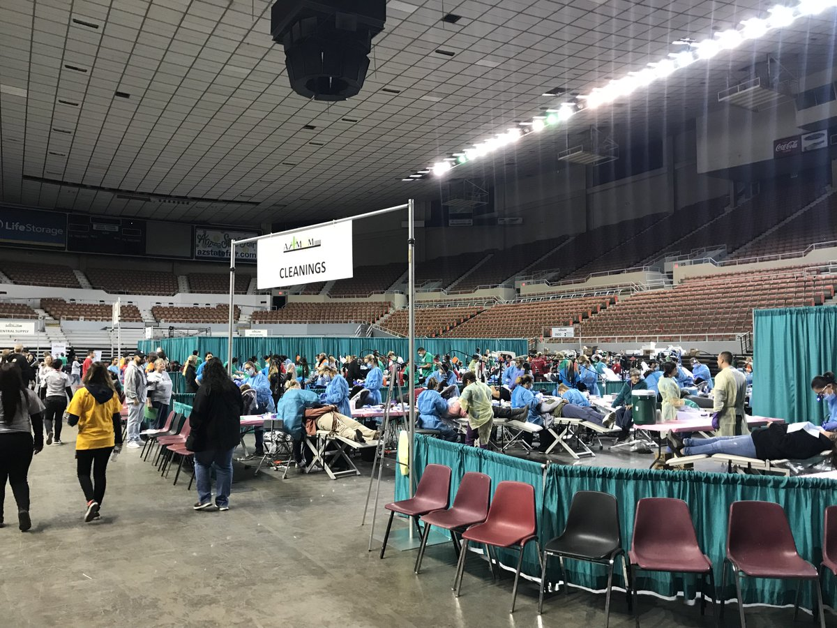 Kudos to the Arizona Dental Mission of Mercy on their 6th annual free clinic event this past weekend! We are grateful to have been able to offer our support, and join 1,700 volunteers in helping nearly 2,000 patients!! Great event coverage here: https://t.co/JLgeYTkvou https://t.co/VtiVlQohbE