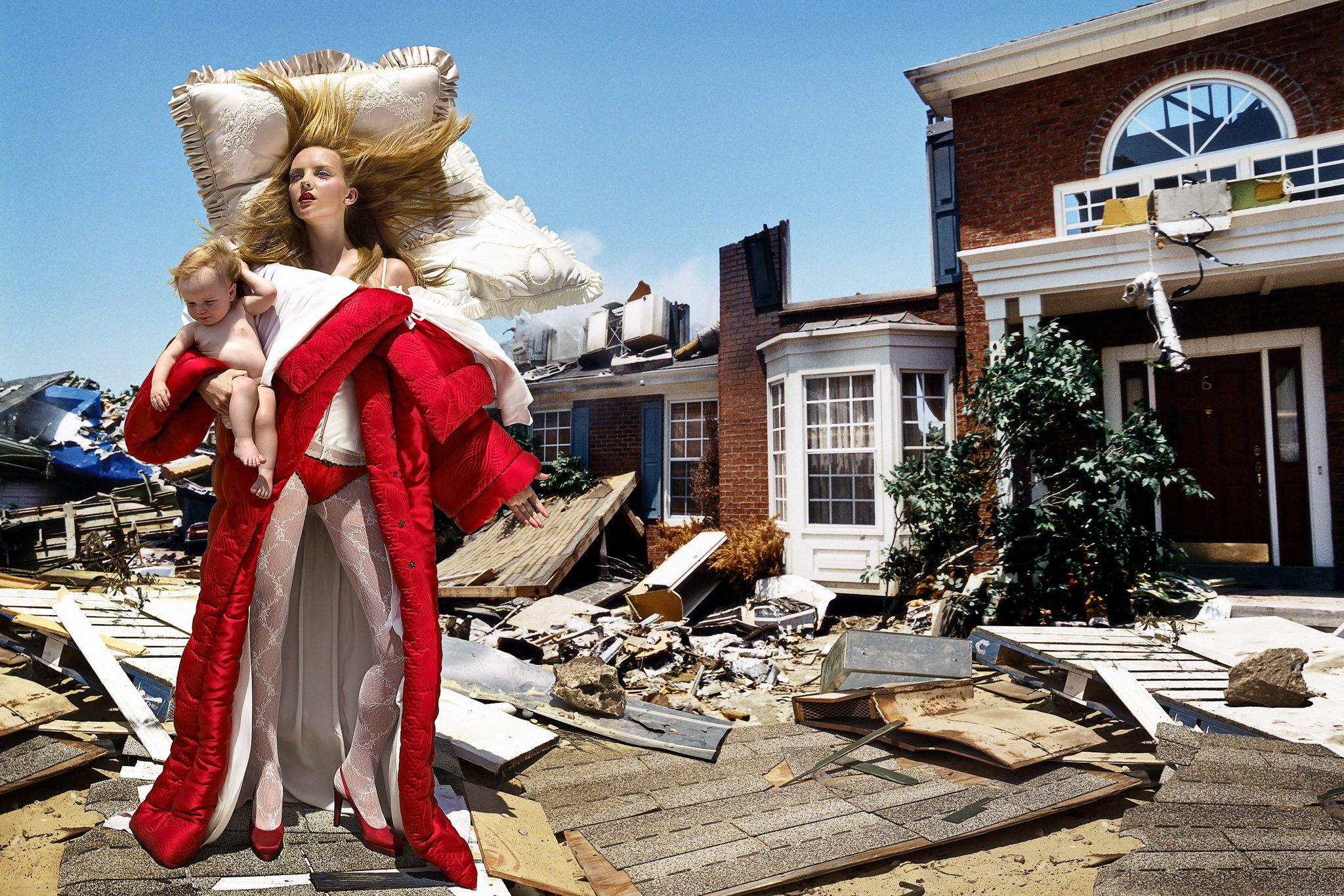 David Lachapelle, The House at the End of the World, 2005 (Viktor and Rolf duvet/pillow dress) https://t.co/vIZCAk9z4e