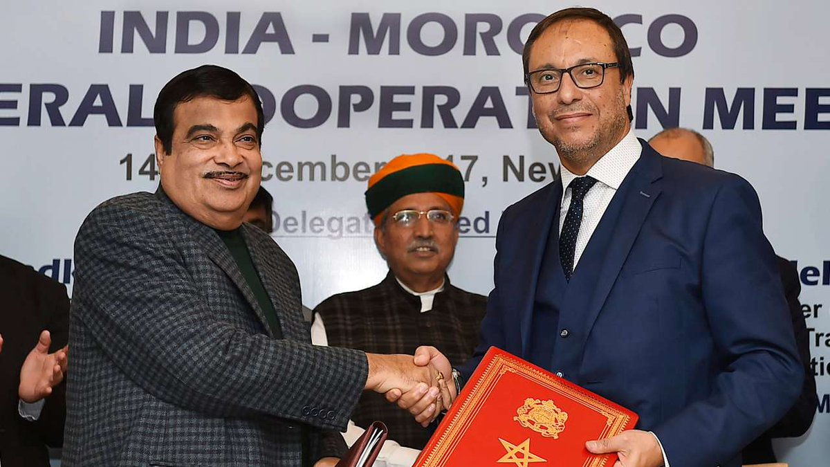 India-Morocco inks pacts on road, water resources & marine sectors