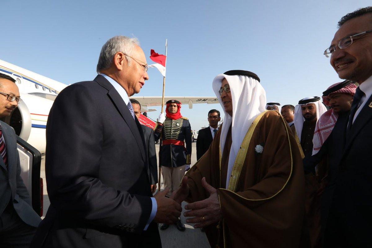 Perdana Menteri tiba di Bahrain