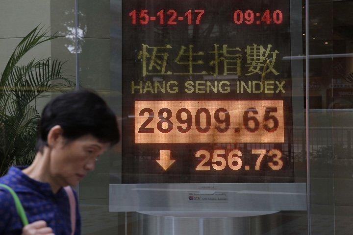 @BroadcastImagem: Bolsas da Ásia recuam com novas preocupações sobre reforma tributária dos EUA. Kin Cheung/AP