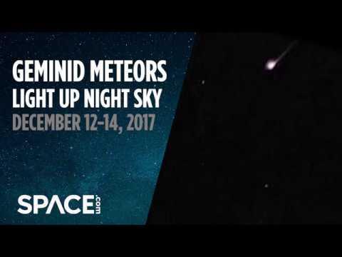 Geminid Meteors Light Up Night Sky