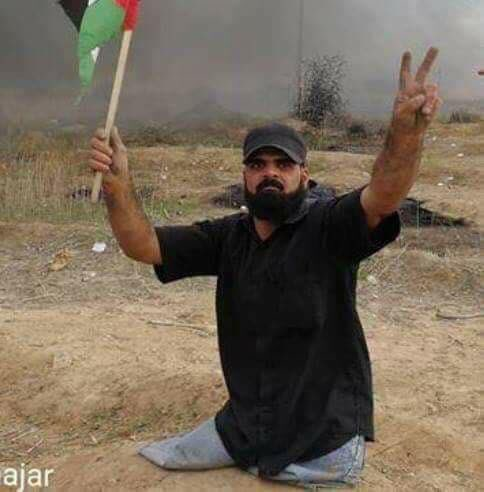 Israel killed this man today. A man with no legs. For holding up a flag. Just think about that. #palestine https://t.co/JSbBTOLdtr