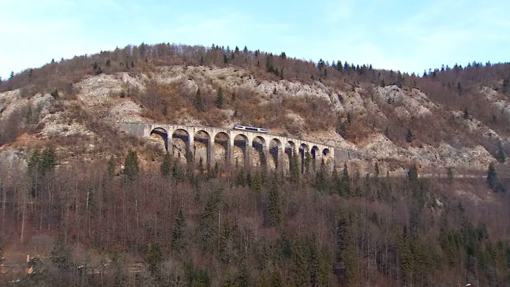 YOU ARE HERE - The legendary Swallow Line train in France's Jura region