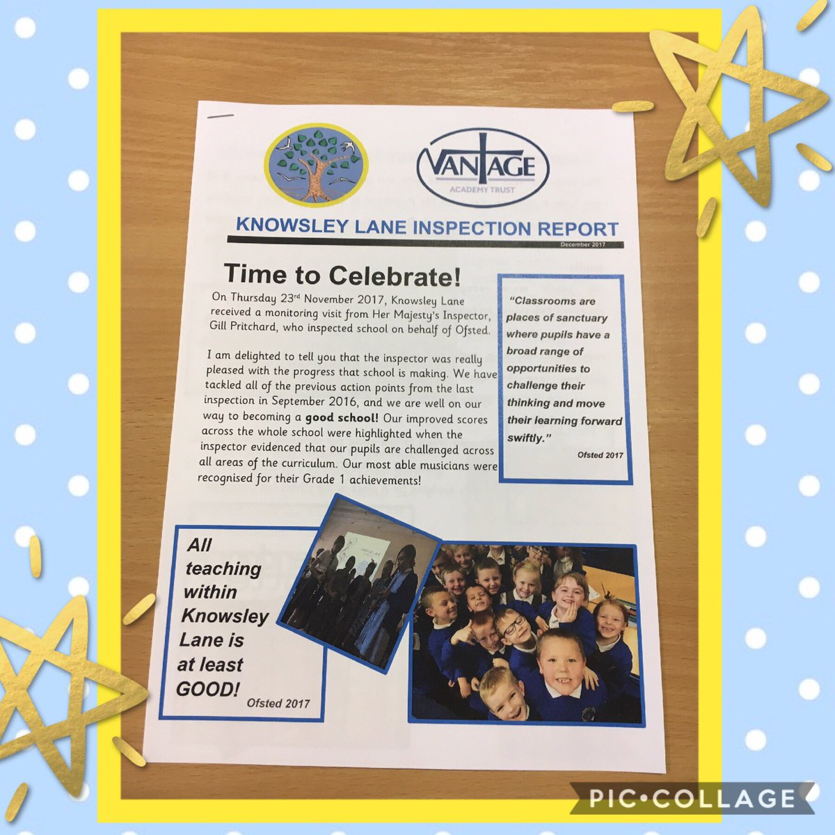 It really is a time to celebrate at #Knowsley Lane!  Fantastic progress and strong standards! #proudprincipal https://t.co/yv4f5Z77fI